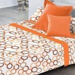 sabanas de algodón de color naranja perfectas para el invierno